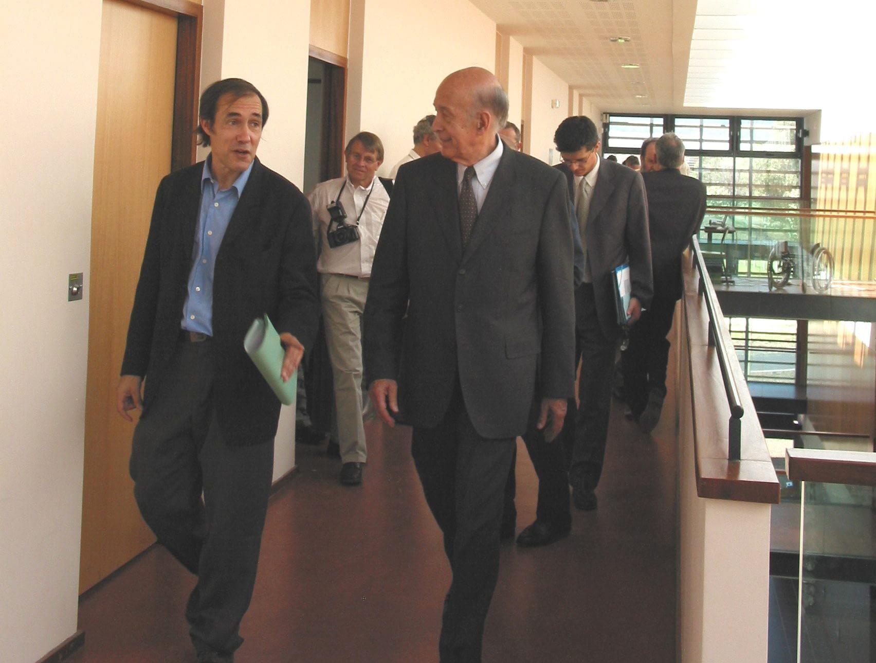 Alain Quilliot et Valérie Giscard d'Estaing lors de l'inauguration de l'ISIMA
